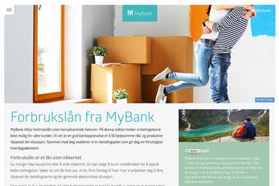 SEO for MyBank.no